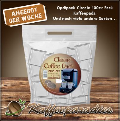 Opdipack 100 Kaffeepads Classic